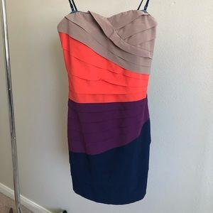 Gianni Bini Dresses - Gianni Bini - Womens Ruffled Strapless Dress - S